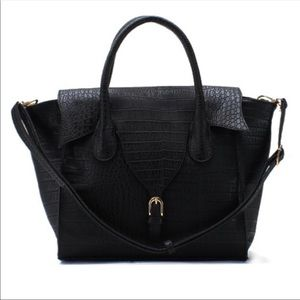 Black Vegan leather satchel